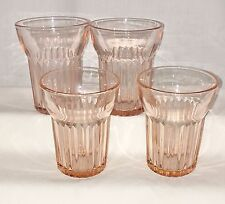 """4 Anchor Hocking QUEEN MARY PINK *3 1/2"""" - 5 oz JUICE TUMBLERS*"""