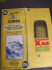 Carte michelin 90 corse 1970