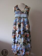 $515 NWT Jean Paul Gaultier Halter Floral Print Mini Dress Floral Blue Women's 2