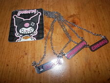 HELLO KITTY KUROMI NECKLACE CHEEKY CHARMING KUROMI