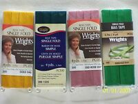 "Wrights Bias Tape Single Fold-1/2"" w x 4 yds. 62 Great colors to choose from."