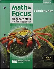 Grade 7 Math in Focus Solutions Key Manual Course 2 7th