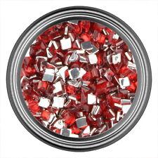 Red Square Rhinestone Gems Flat Back Face Art Nail Art Jewels Decoration