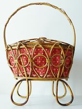 Adorable Worker Italian Bamboo Rattan Typical 1950 Vintage Rockabilly 50s