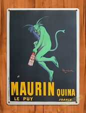 "TIN-UPS TIN SIGN ""Mauein Green Devil"" Wine Whiskey Alcohol Absinthe Bar Garage"