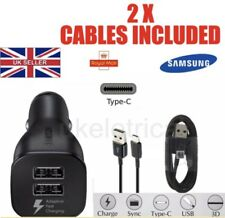 Rápido Doble Cargador de coche con cable tipo C Samsung Galaxy S8/S8+ 8A520 Genuino Note