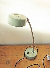 "VINTAGE GRANDE 20"" a collo d'oca GREEN LAMP Industrial Machinist SMALTO nuovamente cablati"