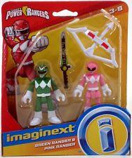 Fp Imaginext Power Rangers Green Ranger & Pink Ranger 3 inch Figures New