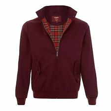 Merc Harrington Jacket Mens Tartan Lined Mod London Wine Coat UK S-xxl L