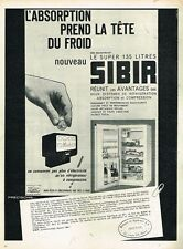 O- Publicité Advertising 1962 Le Refrigerateur SIBIR