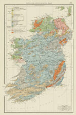 Ireland, Geological map. THE TIMES 1900 old antique vintage plan chart