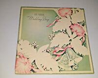 1953 Die Cut Vintage Wedding Cake Card Mid Century Modern Bells Sunshine BY