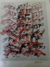 Fernandez Arman litografia a colori 45x32 foglio es.12/100