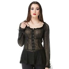 Women's Jawbreaker Long Sleeved Lace Top Goth Gothic Punk
