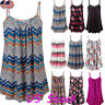 Women's Summer Vest Top BOHO Sleeveless Blouse Loose Casual Tank Tops T-Shirt US