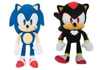 "Sonic + Shadow the Hedgehog 12"" Plush SET Stuffed Little Children Kids Toy Gift"