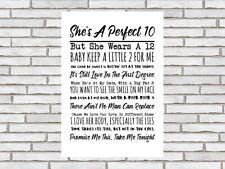 Beautiful South Perfect 10 lyrics print A4 unframed friend birthday anniversary