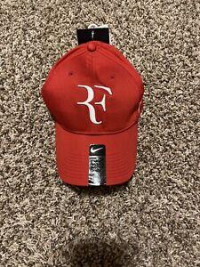 Nwt Roger Federer Nike Dri-FIT Legacy 91  Hat Cap Gym Red White RF 371202 621