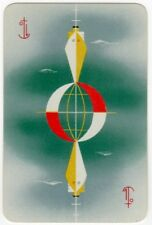 Playing Cards 1 Single Swap Card Old Vintage Art Deco ORIENT LINE Shipping Ship