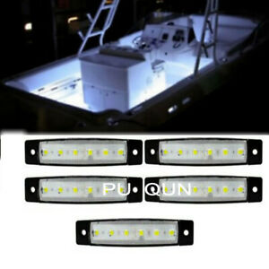 5x Marine Boat Light 3.8In 12 Volts White LED Courtesy/Utility Strip Lights