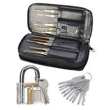 Profi 24-teiliges Lockpicking Set+Vorhängeschlösser+10er Allzweck Schlüssel