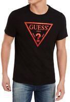 Guess Mens T-Shirt Black Size 2XL Metallic Foil Caviar Logo Crewneck Tee $34 053