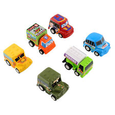 Lovely Classic 6pcs Truck Vehicle Mini Pull Back Car Moveable Kids Toy