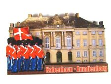 Kopenhagen Amalienborg 3 D Holz Souvenir Deluxe Magnet Dänemark  Neu