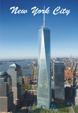 New York City, NY, Freedom Tower, Skyline, 2 x 3 Souvenir Fridge Magnet #N522