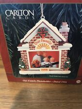 Our Family Photoholder 1998 Carlton Cards Heirloom Collection Ornament Nib