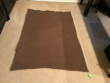 Dark Brown Throw Blanket Sheep Like Material 60x44inches