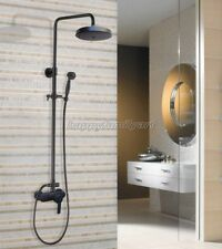 Black Oil Rubbed Brass Bathroom Rainfall Shower Faucet Set Mixer Tap yhg152