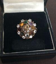 Ladies Antique 14k Gold Multi Gem Ring - Size P