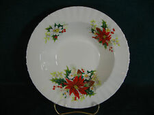 "Royal Albert Poinsettia Christmas Pattern 8"" Diameter Rim Soup Bowl(s)"
