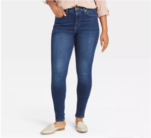 Women's High-Rise Fleece Lined Skinny Ankle Jeans - Universal Thread 2/26R