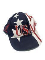 Vintage 90s 1996 Atlanta Olympics Logo 7 USA AOP All-Over Flag Hat Cap Snapback