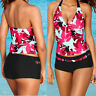 Women Push-up Padded Tankini Bikini Set Plus Size Swimsuit Bathing Swimwear AU