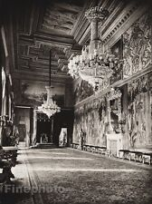1925 Original ITALY Photo Gravure ROME King Throne Chandelier Interior HIELSCHER