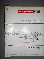 Motostandard Gutbrod tracteur SUPERIOR 1016 - 10/1968 : catalogue pièces