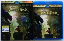 DISNEY THE JUNGLE BOOK 2016 BLU RAY DVD 2 DISC SET + SLIPCOVER SLEEVE FREE SHIP
