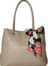 Betsey Johnson Large Tote Shoulder stone Handbag with Scarf Pocketbook Purse Bag