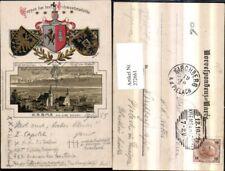 272661,Präge AK Krems an d. Donau Totale Passepartout Wappen d. Schwesterstädte