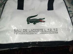 EAU DE LACOSTE L.12.12 Duffle Bag Gym Yoga White NWOT