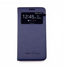 Flip Cover Custodia Libro Book S View Samsung Galaxy S3 Neo Originale Blu Navy