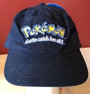 Vintage 1999 Pokemon Nintendo Official Strap Adjustable Baseball Hat NEW NWT
