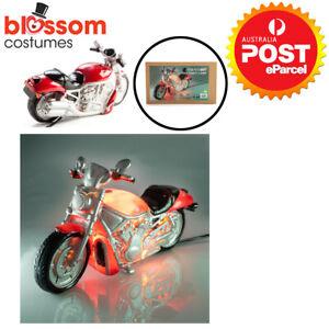 NG186 Motorcycle LED Table Lamp Bike Cruiser Garage Memorabilia Night Light Gift
