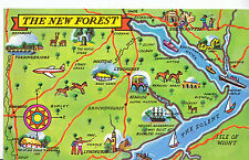 Map Postcard - Places of Interest in The New Forest   MB1848