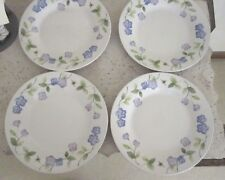 Lot of 4 PERENNIALS BY PFALTZGRAFF PETALS Plates Beige Blue  Floral Bee