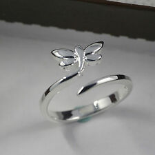 Silver Adjustable dragon fly Ring Jewellery thumb dragonfly wrap toe 925 love UK