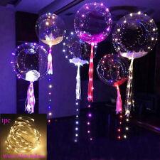 LED Light Balloons Transparent Balloon Wedding Birthday Xmas Party Lights Decor Warm White